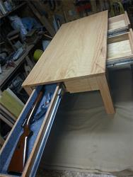 48 inch drawer slide in coffee table for gun pull out