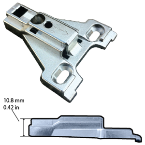 Hettich, 1076539, Intermat Face Frame Mounting Plate 4.5mm