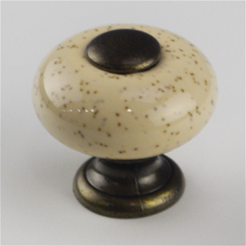 "1"" Antique English Oatmeal Knob Discontinued"