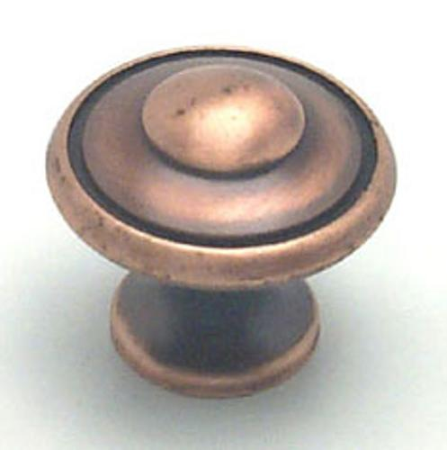 Berenson, 2923-1BAC-P, Cabinet Knob, Euro Traditions, Brushed Antique Copper