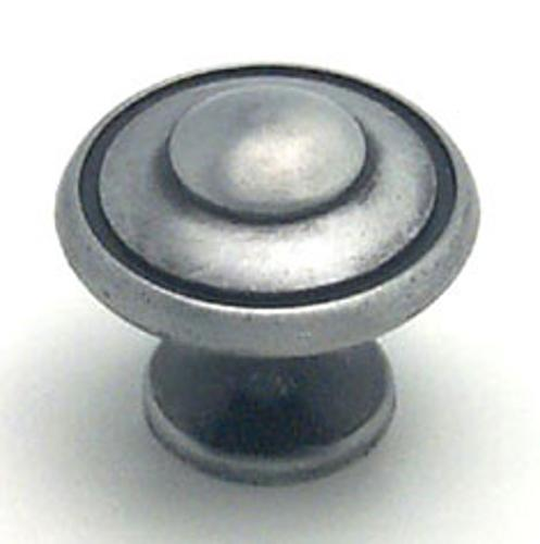 Berenson, 2924-1BAP-P, Cabinet Knob, Euro Traditions, Brushed Antique Pewter Finish