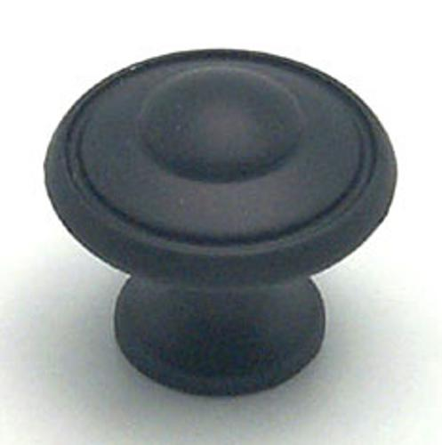 Berenson, 2927-155-P, Cabinet Knob, Euro Traditions, Matte Black Finish