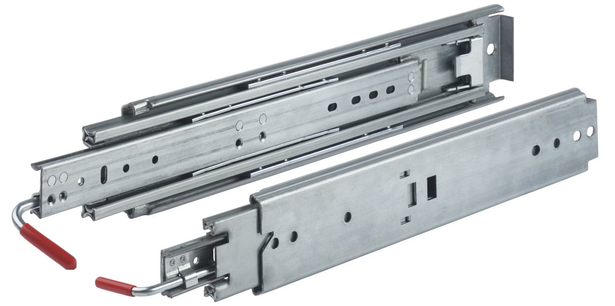 12 Quot Locking Drawer Slides Full Extension 500 Lb 03338