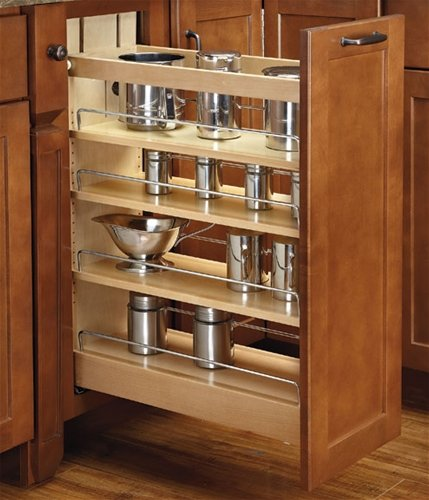 Tremendous Wood Base Organizer 6 Inch 4 Tier Pull Out Shelf With Soft Close Blumotion Slides Download Free Architecture Designs Embacsunscenecom