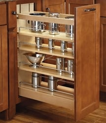 Rev-A-Shelf, 448-BC-5C, Wood Classics 4-Tier Pull-Out Shelf