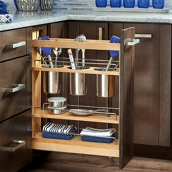 Soft Close Base Cabinet Organizer 5 Inch 4 Tier Pull Out