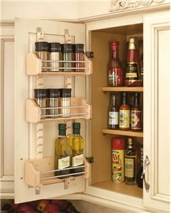 Rev-A-Shelf, 4ASR-15, Adjustable Door Mount Spice Rack