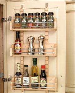 Rev-A-Shelf, 4ASR-18, Adjustable Door Mount Spice Rack