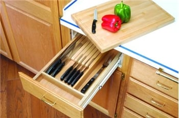 Rev-A-Shelf, 4KCB-18, Combination Knife Holder/Cutting Board