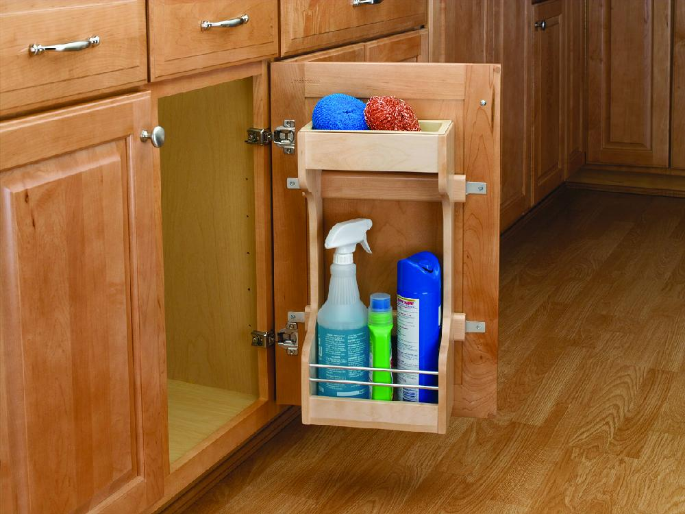 Rev-A-Shelf, 4SBSU-15, 10-1/2 inch Wood Door Storage Organizer.