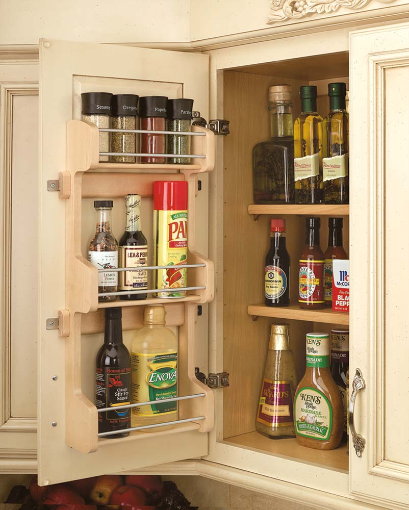 10 Inch Door Mount Spice Rack, 4SR-15