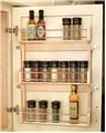 Rev-A-Shelf, 4SR-21, 16 inch Door Mount Spice Rack