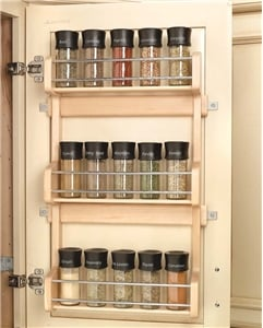 Rev-A-Shelf, 4SR-18, 13 inch Door Mount Spice Rack