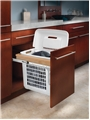 Rev-A-Shelf, 4VHTM-1520DM-1, Top Mount Wood Vanity Hamper