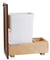 Rev-A-Shelf, 4WC-15DM1, Wood Classics Trash Can, Door Mount, 35 Quart