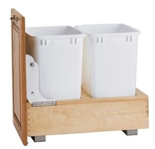 Rev-A-Shelf, 4WC-18DM2, Wood Classics Bottom Mount Trash Can