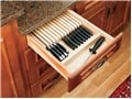 Rev-A-Shelf, 4WKB-1, Wood Knife Block Drawer Insert with Dividers