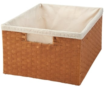 Rev-A-Shelf, 4WB-1419-52, 14-1/2 inch Rattan Basket with cloth liner