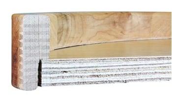 Wood lazy susan cross-cut of construction