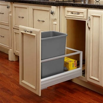 soft close pull out trash cans waste containers. Black Bedroom Furniture Sets. Home Design Ideas