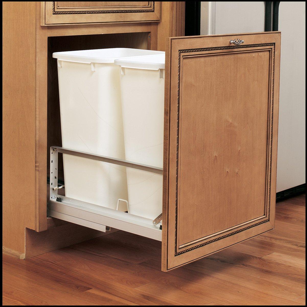 Double Doormount 35 Qt Trash Can White 5349 18dm 2