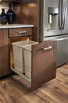 35 Quart Pull-Out Waste Container, Champagne