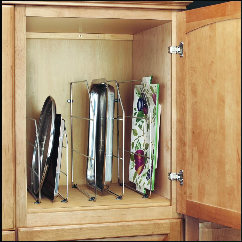 Rev-A-Shelf, 597-12CR-52, 12 Inch Tray Divider w/Clips, Chrome