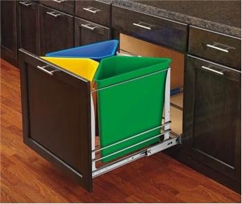 Recycle Waste Unit, Multi Color, Soft Close