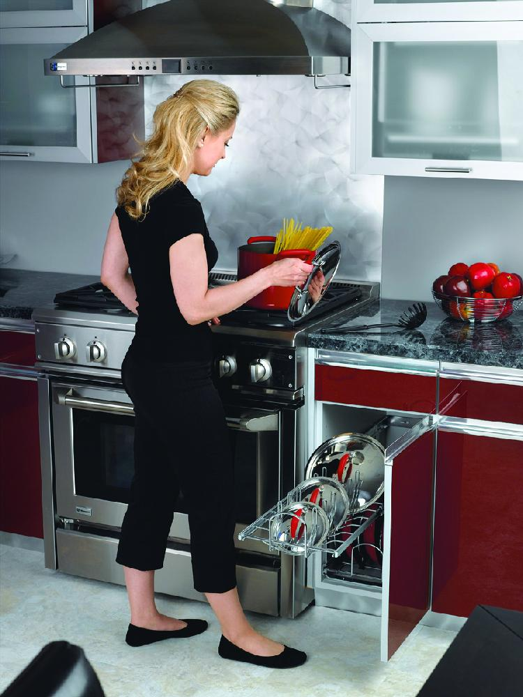12 in Cookware Organizer Two-Tier, Chrome, 5CW2-1222-CR
