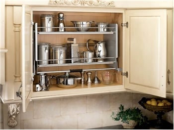 Image of Pull Down Shelf installed in cabinet