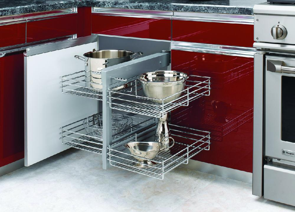 Chrome Blind Corner Cabinet Optimizer
