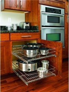 Rev-A-Shelf, 5WB2-2122-CR, 21 inch Double Pull-Out Chrome Wire Shelf