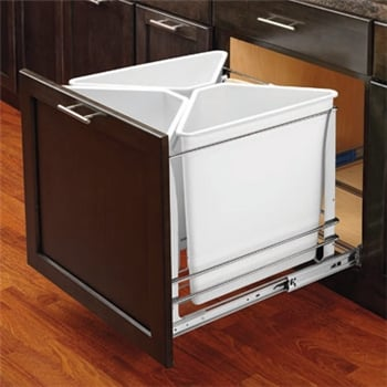 Recycle Waste Unit, White, Soft Close
