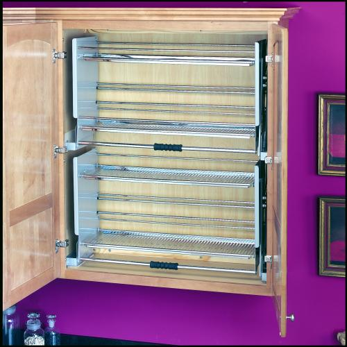 Kitchen Cabinet Pull Down Shelves: 36 Inch Pull-Down Shelf, 5PD-36CR