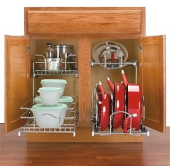12 In Cookware Organizer Two Tier Chrome 5cw2 1222 Cr