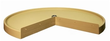 Rev-A-Shelf, 6101-18-15-52, Replacement SHELF, Pie-Cut Shelf, Almond, 18 Inch