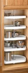 Rev-A-Shelf, 6265-22-15-52, 22 Inch D-Shaped Pantry 5 Shelf Set, Almond (Shown in White)