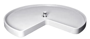 Rev-A-Shelf, 6401-18-11-52, Replacement SHELF, KIDNEY SHAPE, White, 18 INCH