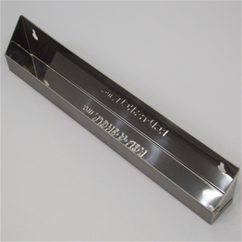 "14 1/4"" Stainless Steel Slim Line Tip-Out Tray"