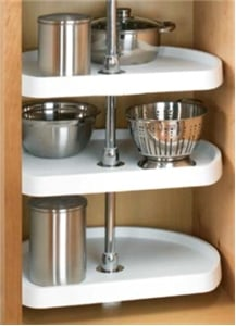 Rev-A-Shelf, 6273-22-11-536, 22 Inch, D-Shape Lazy Susan, 3-Shelf, White