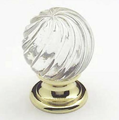 Berenson, 7031-907-C, Cabinet Knob, Europa, Clear Crystal & Swirl Gold