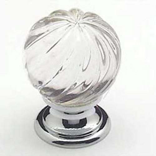Berenson, 7032-926-C, Cabinet Knob, Europa, Crystal & Chrome