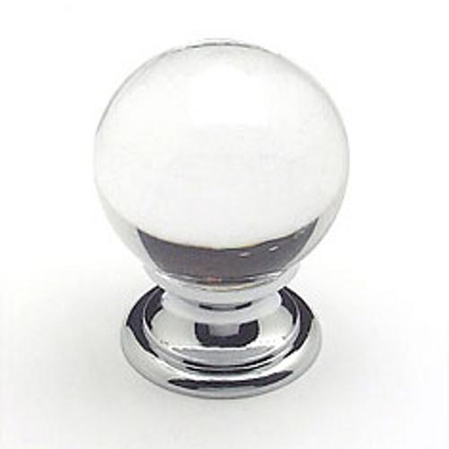 Berenson, 7038-926-C, Cabinet Knob, Europa, Clear Crystal Ball & Chrome