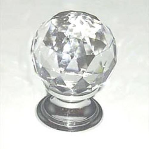 Berenson, 7042-926-C, Cabinet Knob, Europa, Faceted Crystal Ball & Chrome