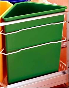 Rev-A-Shelf, 9700-60-G, Ready Recycler Replacement Container, 25 Quart, Green