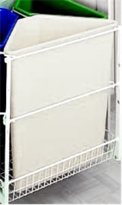 Rev-A-Shelf, 9700-60-W, Ready Recycler Replacement Container, 25 Qt. White