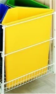 Rev-A-Shelf, 9700-60-Y, Ready Recycler Replacement Container, 25 Quart, Yellow