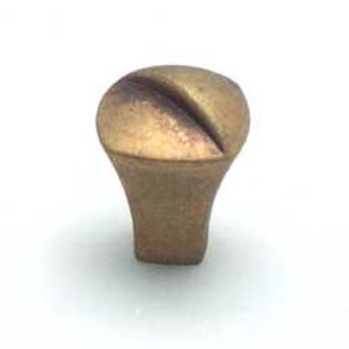 Cabinet Knob, Euro Retro, Dull Antique Brass Finish, 2947