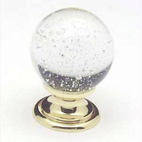 Berenson, 7035-907-C, Cabinet Knob, Europa, Crystal w/Bubbles & Gold