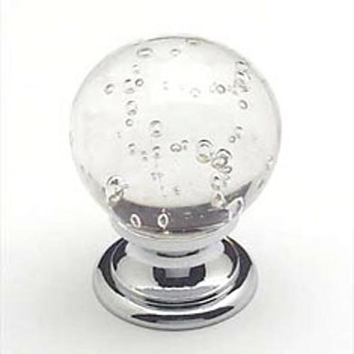 Berenson, 7036-926-C, Cabinet Knob, Europa, Crystal w/Bubbles & Chrome